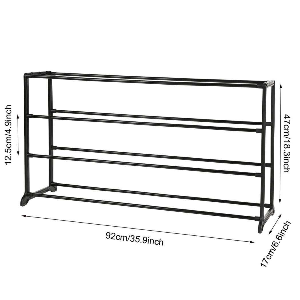 Portable 4/7/10 Tier Shoes Rack Stand Shelf Shoes Organizer Storage 6