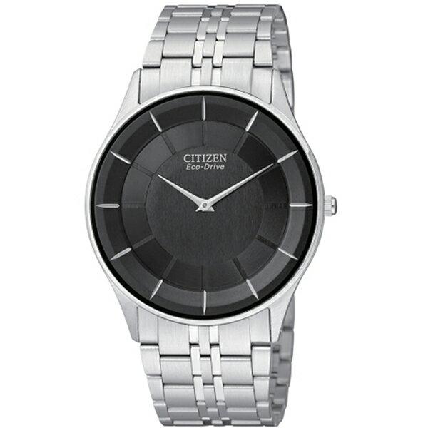 CITIZEN星辰AR3010-65E極致纖薄光動能腕錶/黑面36mm