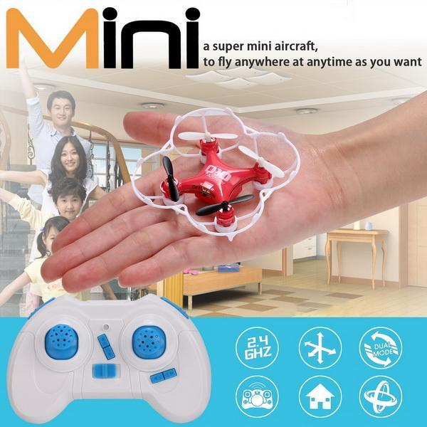 CX-10 Mini 29mm 4CH 2.4GHz 6-Axis Gyro LED CF Mode 360 degree Eversion UFO RC Quadcopter 1