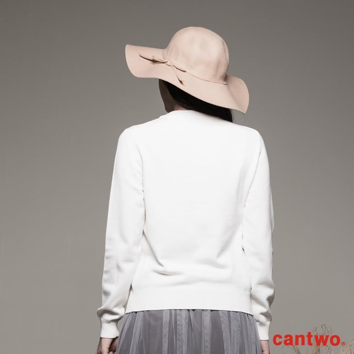 cantwo網紗包鑽圓領針織上衣(共二色) 3