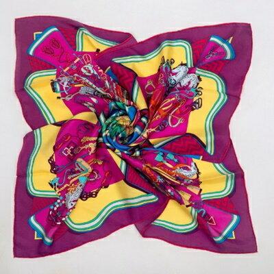 絲巾桑蠶絲圍巾-歐美時尚華麗優雅女配件5色73hx45【獨家進口】【米蘭精品】