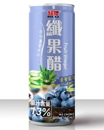 紅牌纖果醋-蘆薈藍莓240ml/單罐【合迷雅好物商城】