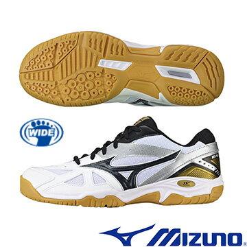 71GA164011(白X黑)WAVE GATE 4 基本型體羽球鞋 A【美津濃MIZUNO】