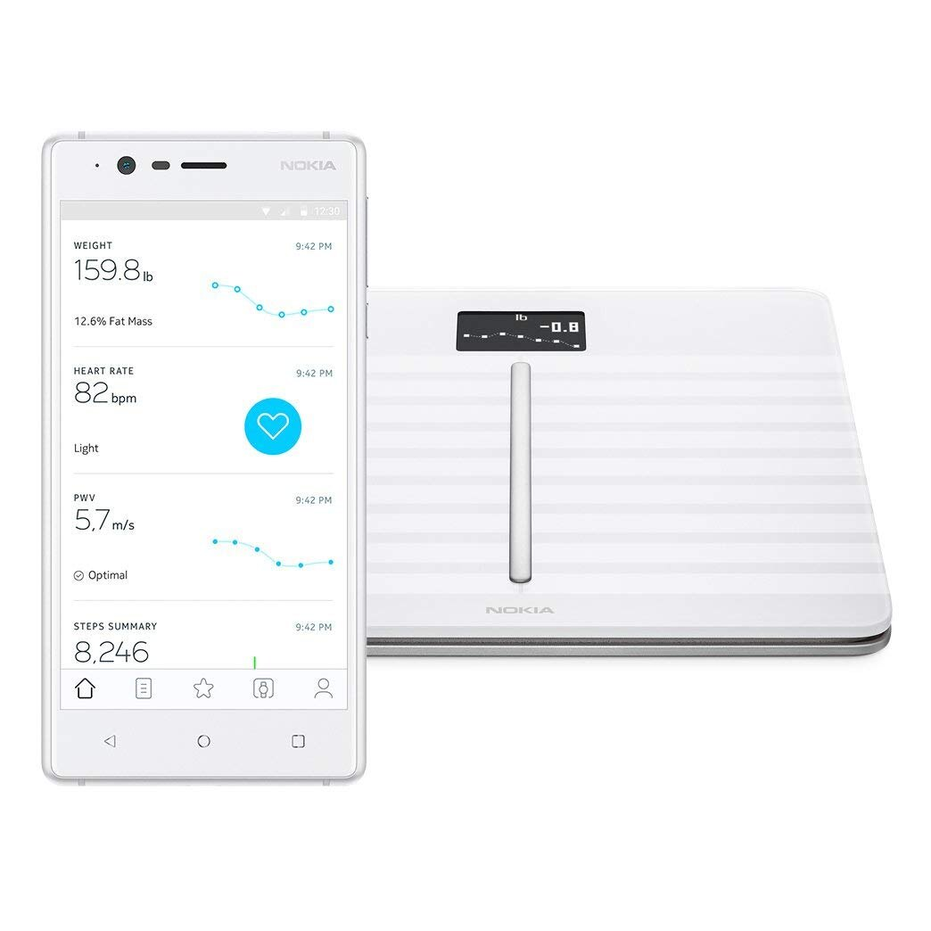 Nokia Body Cardio Wi-Fi Smart Scale with Body Composition and Heart Rate - White 1
