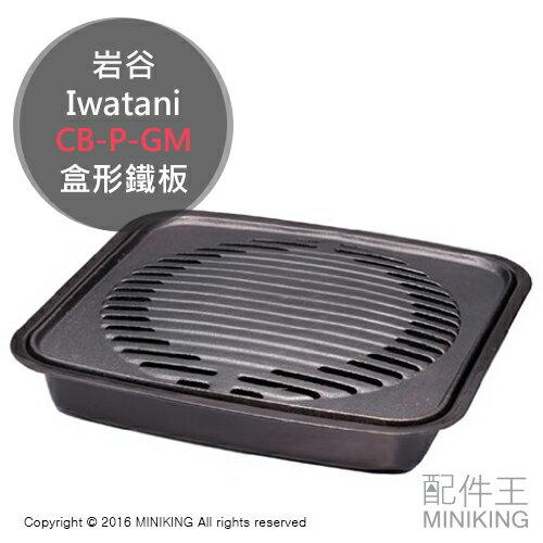 日本代購 岩谷 Iwatani CB-P-GM 盒形鐵板 燒烤鐵板 另 CB-AH-41