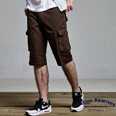 DITION 特價100元商品!!美式多口袋中版過膝短褲-二色38腰