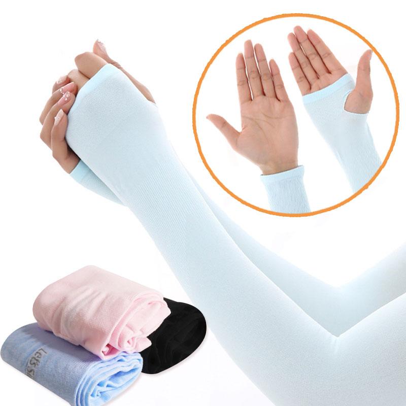 台灣出貨 現貨 冰絲抗UV運動袖套 運動袖套 運動臂套 涼感袖套 防曬袖套 防曬 袖套 露趾 平口 吸濕排汗 冰絲袖套