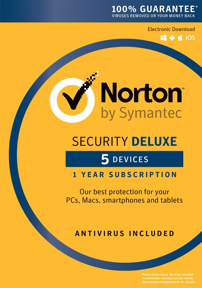 NORTON by Symantec - Security Deluxe (Email Delivery - 1 Year 5 Devices) 0