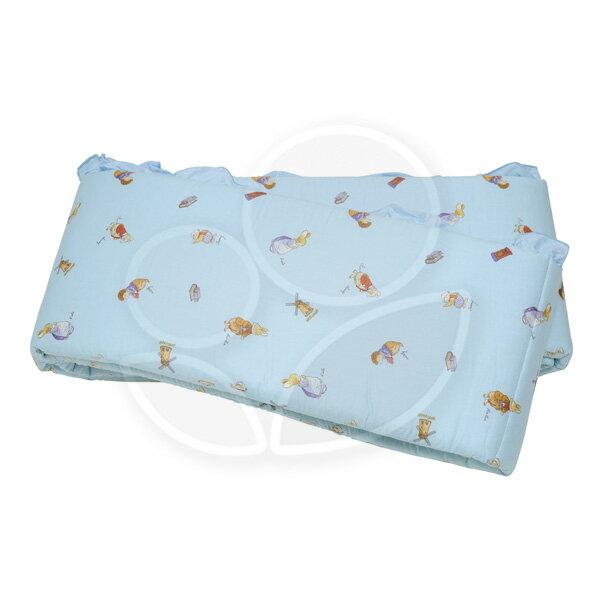 FoxwoodTales 狐狸村傳奇 高級精梳棉床護圈 (一般中床適用)藍色【悅兒園婦幼生活館】