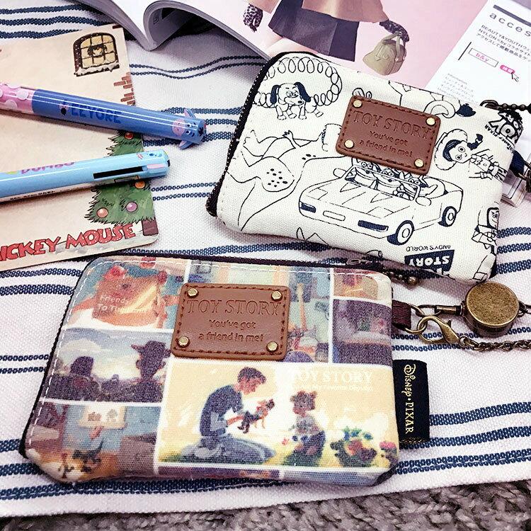 PGS7 日本迪士尼系列商品 - 迪士尼 玩具總動員 金屬 伸縮 零錢包 票卡包 三眼怪 胡迪【SGJ5064】