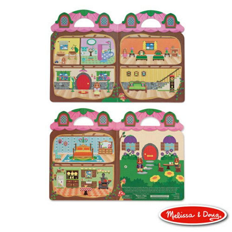 美國瑪莉莎 Melissa & Doug 重複貼泡泡貼 可愛花栗鼠樹屋 1