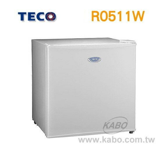 【佳麗寶】- 東元單門小冰箱R0511W