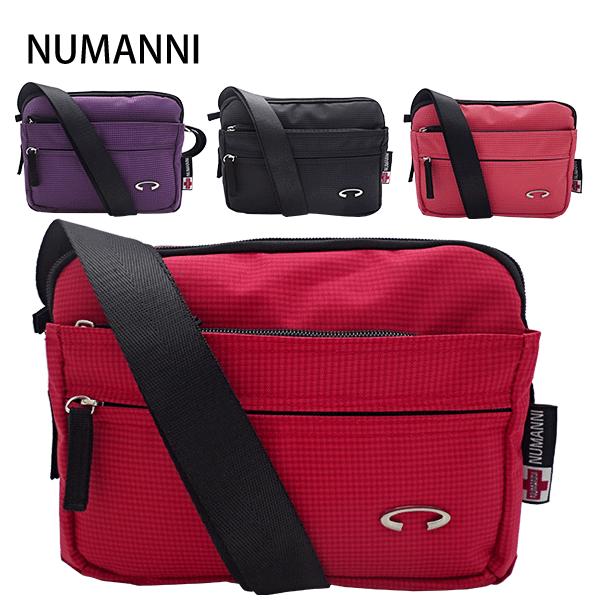 25-212A【NUMANNI 奴曼尼】新材質輕巧亮彩側背包 (四色)