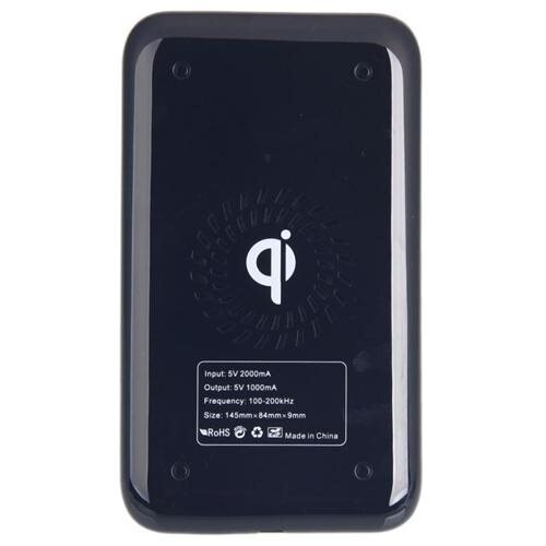QI Wireless Charger + USB Cable Black 3