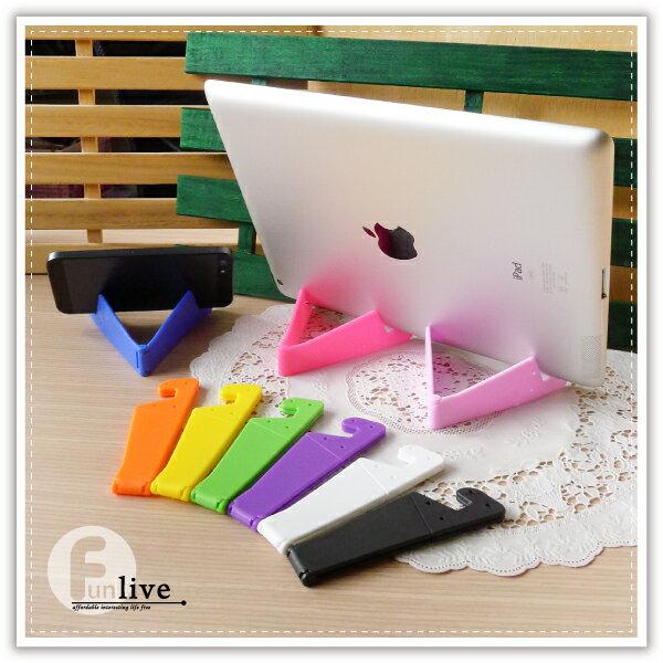 【aife life】摺疊V型平板手機架 / 手機支撐架 / 平板支撐架 / 手機座 / 固定座 / 手機支架 / 名片架 / 名片座 0