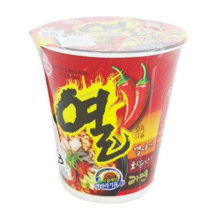 【敵富朗超巿】韓國不倒翁OTTOGI 辛辣杯麵 62g 有效日期:2018.11.15