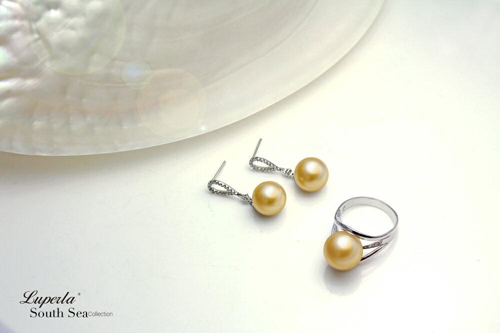 大東山珠寶 繽紛花園 南洋金珠頂級真鑽18K白金耳環 4