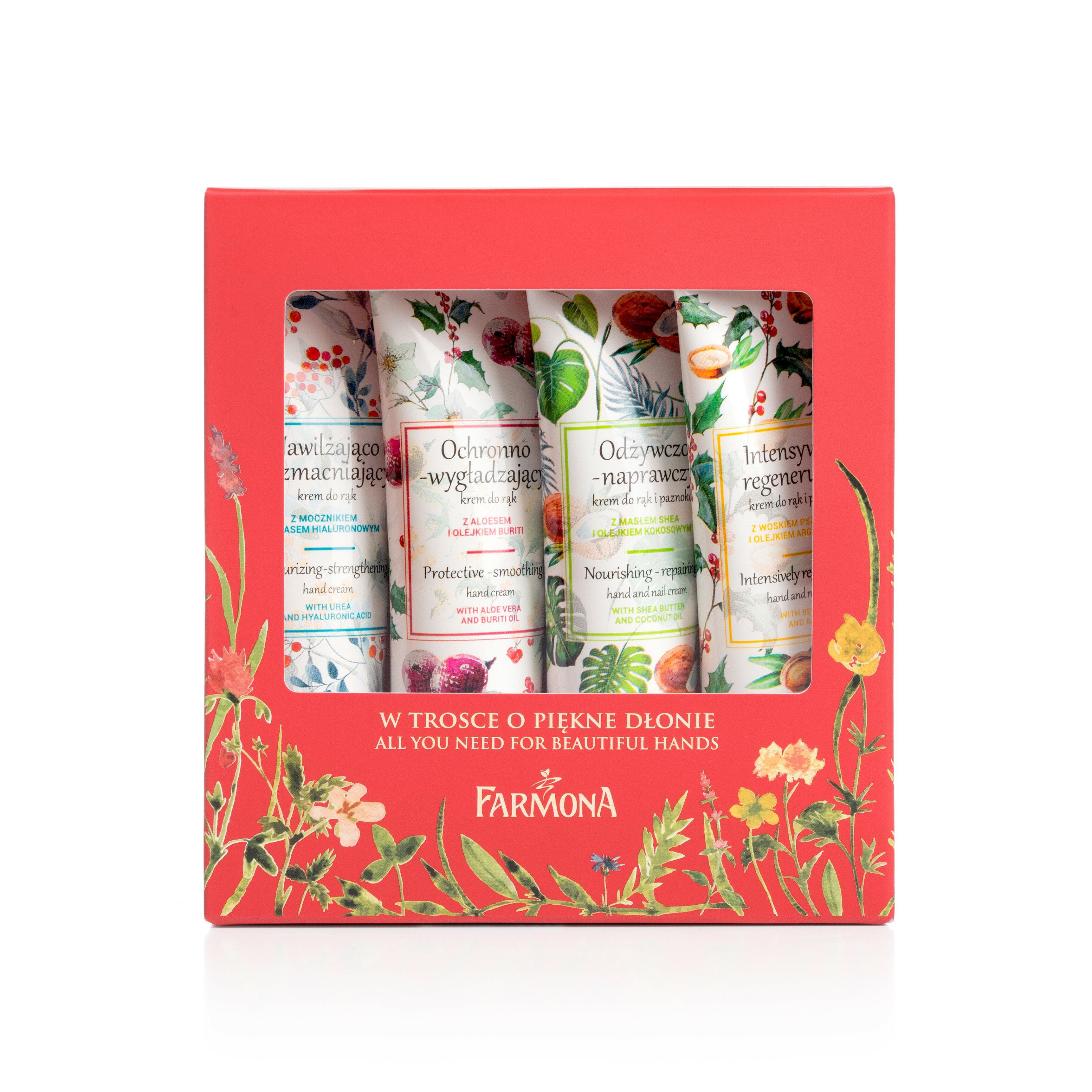 FARMONA 經典聖誕香氛護手禮盒組(4入) /送禮自用兩相宜