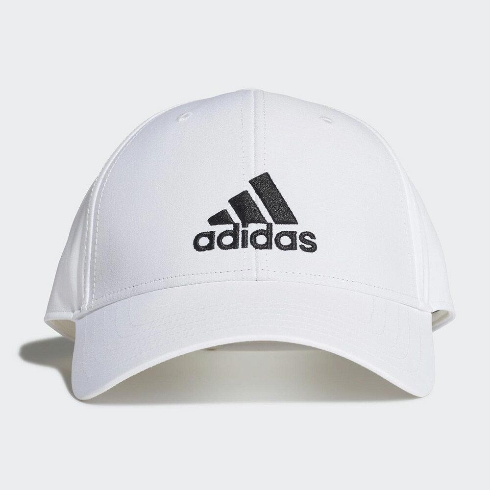 【全館滿額88折】Adidas Baseball Cap 帽子 老帽 休閒 遮陽 涼感 抗紫外線 刺繡 白【運動世界】FK0899