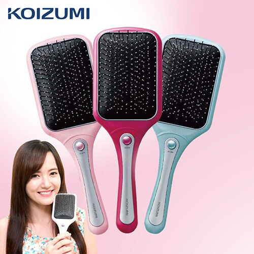 <br/><br/>  【KOIZUMI小泉成器】音波磁氣美髮梳 家用款-湖水綠 KZB-0010G<br/><br/>