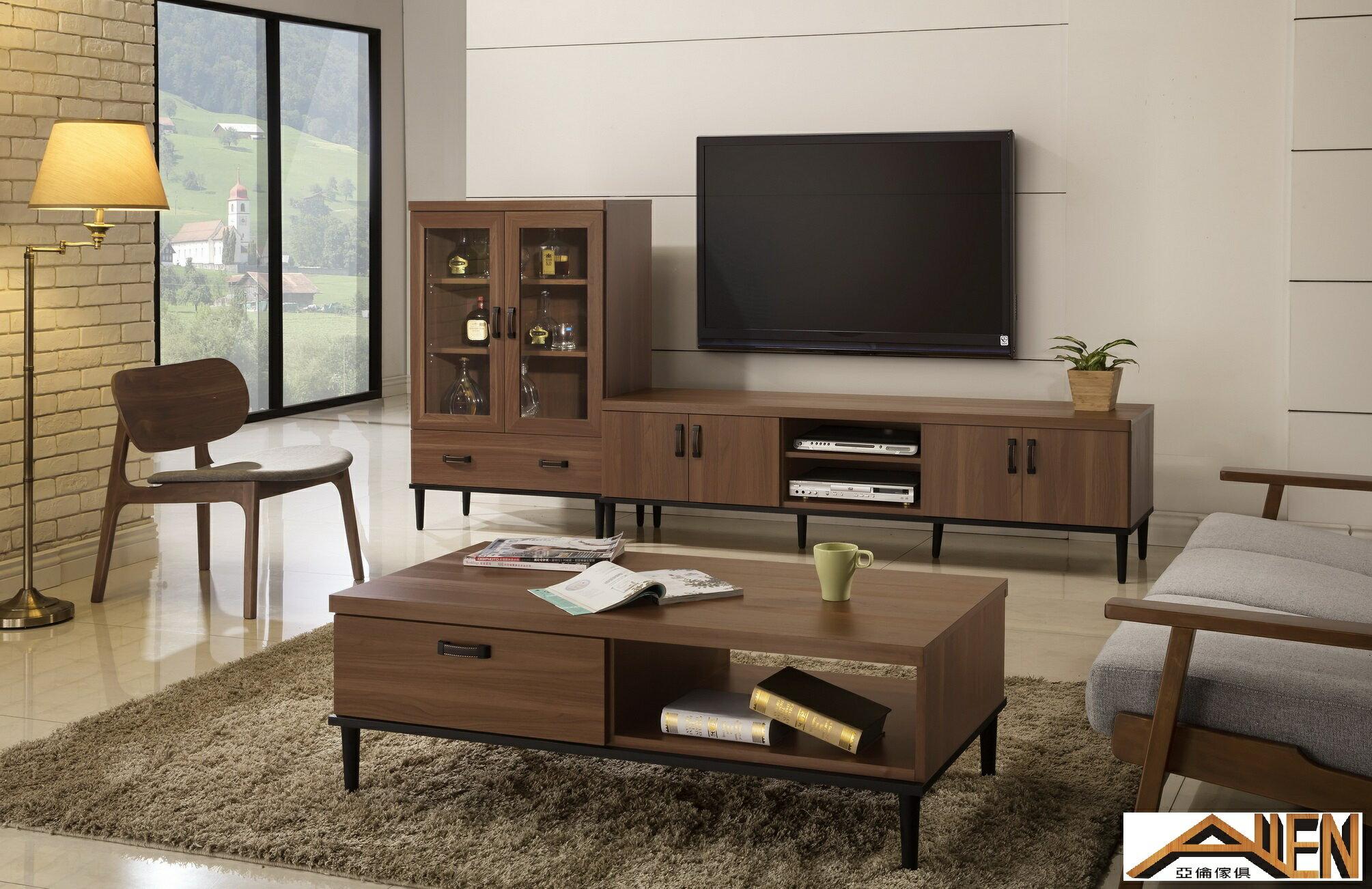 亞倫傢俱*亞當斯立體木紋6尺電視櫃 2