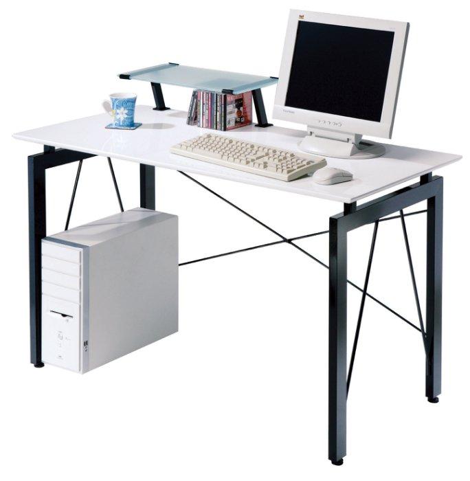 【尚品傢俱】JF-385-2  歐雪4尺白色鋼烤電腦桌(含上架)