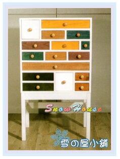 ╭☆雪之屋居家生活館☆╯AA565-04北歐童話十六抽實木收納櫃(直式)置物櫃床頭櫃電話櫃電視櫃展示櫃斗櫃