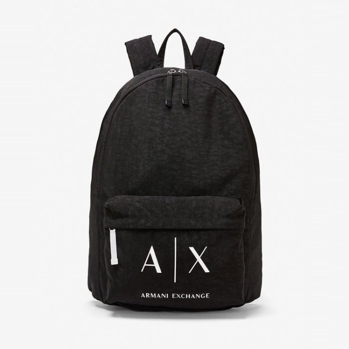 美國百分百【全新真品】Armani Exchange 後背包 AX 學生包 背包 書包 肩背包 外出包 黑色 H709