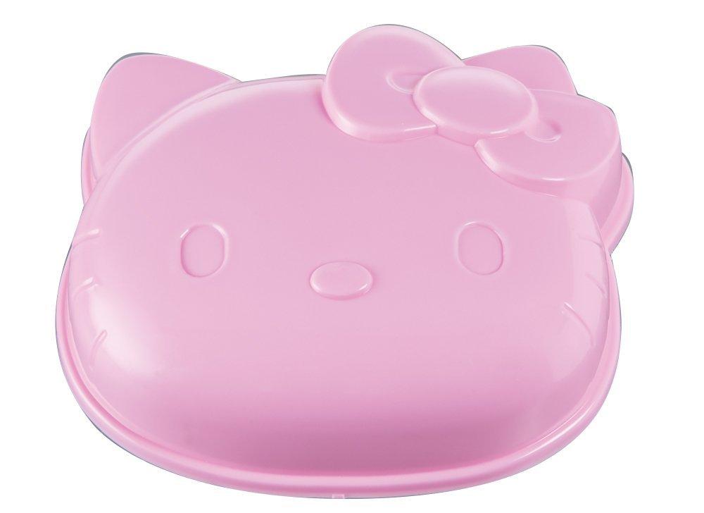 X射線【C374241】Hello Kitty 吐司壓模(立體大臉.粉),廚房模具/做餐模具/野餐料理/日本雜貨/吐司模型/模具