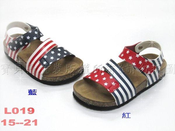 ☆╮寶貝丹童裝╭☆ 台灣製造 可愛 英國風 星星 條紋 造型 軟木鞋 休閒鞋 涼鞋 新品 現貨