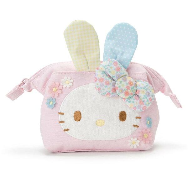 X射線【C378298】HelloKitty化妝包-兔,美妝小物包筆袋面紙包化妝包零錢包收納包皮夾手機袋鑰匙包