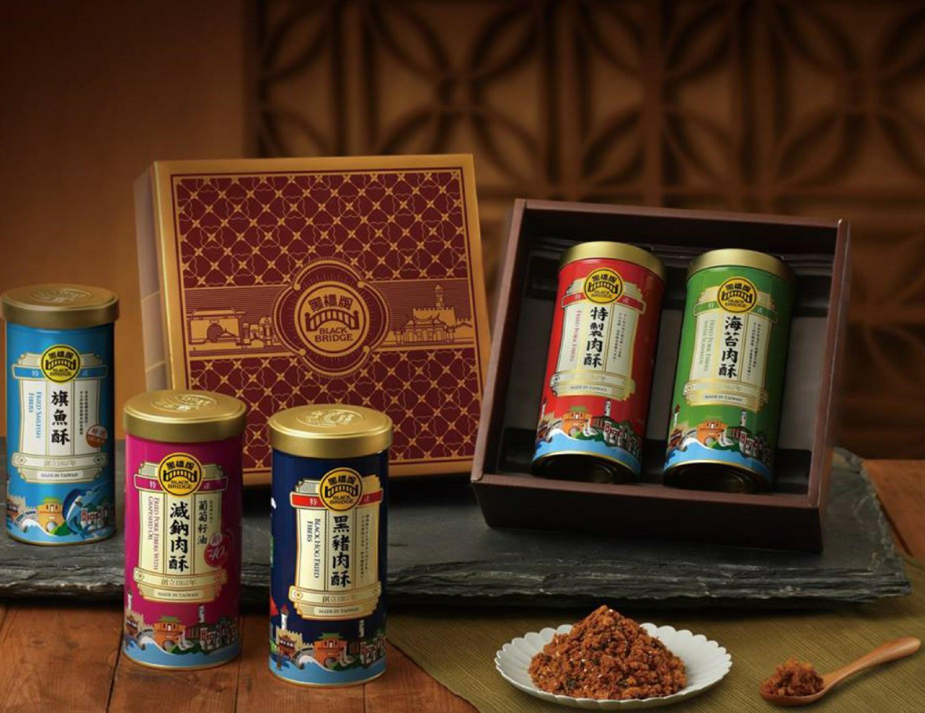 【野味食品】黑橋牌雙喜禮盒(內含肉鬆270g/罐*2,口味可搭配)(附贈禮盒禮袋)