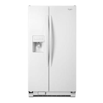 Whirlpool 惠而浦 747L 對開電冰箱 WRS325FDAW (白) / 蔬果保鮮抽屜/機械式溫控管理模式/強化玻璃層架