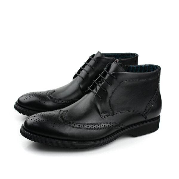 HUMAN PEACE 皮鞋 高筒 黑色 男鞋 no108