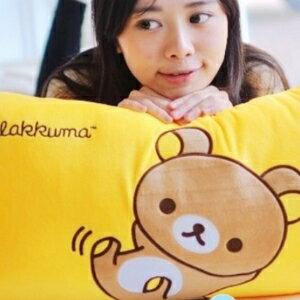 美麗大街【105121406】拉拉熊造型長枕 枕頭 靠枕