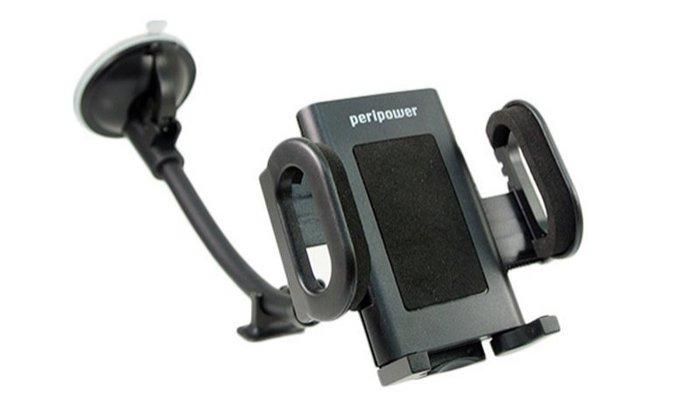 權世界@汽車用品 PeriPower 萬用型智慧型手機車用吸盤固定車架(27cm可旋轉) MT-W10