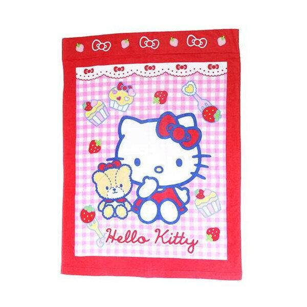 【真愛日本】15062400001 浴巾毯被-KT紅格紋抱熊 三麗鷗 Hello Kitty 凱蒂貓  居家 衛浴 正品 限量 預購