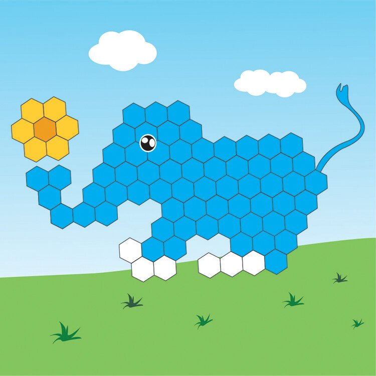 Mexin美絲-可愛動物系列-吸音立體壁貼【藍寶寶】