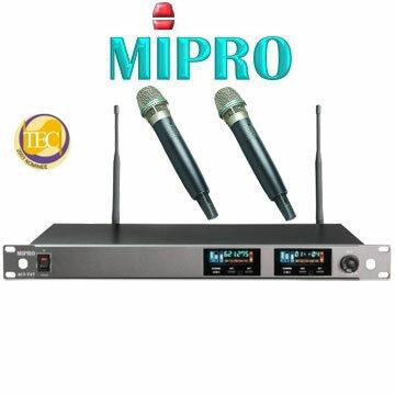 <br/><br/>  MIPRO ACT-727 無線麥克風 窄頻1U雙頻道純自動選訊接收機 配2支手握麥克風<br/><br/>