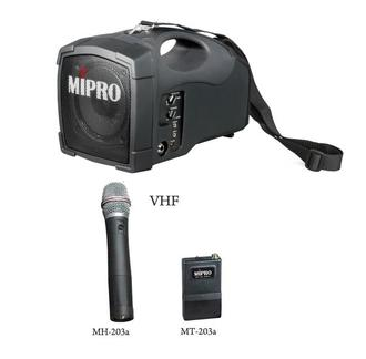 MIPRO MA-101 肩掛式無線喊話器 攜帶式擴音機/教學機 VHF頻 (無線麥克風或領夾式麥克風二選一) 適用 集會.教學.上課.教會.幼稚園
