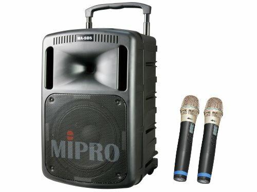 MIPRO MA-808 大型行动式扩音喇叭 附二支无线麦克风