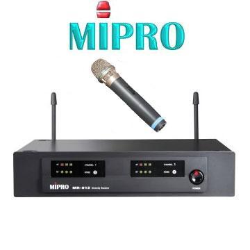 MIPROMR-812無線麥克風UHF雙頻道自動選訊接收機標準半U機箱配1支手握麥克風