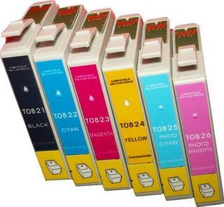 EPSON 82N【台灣耗材】EPSON相容墨水匣T0821/T0822/T0823/T0824/T0825/T0826(82N)單顆任選 適用Epson Stylus Color R270/R290/RX590/RX690/TX700W/TX800FW EPSON 82N