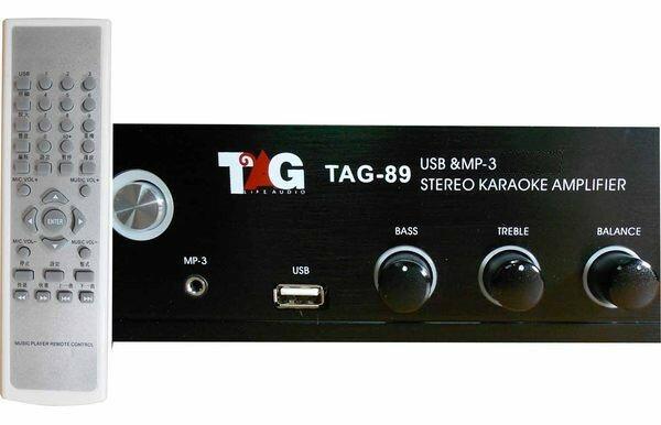 <br/><br/>  卡拉OK擴大機 擴大機TAG-89 / TAG89卡拉OK伴唱機綜合擴大機 台灣製立體聲 擴大機支援USB、MP3、MP4播放 擴大機 卡拉OK擴大機☆另可搭配其他型號伴唱機音響組<br/><br/>