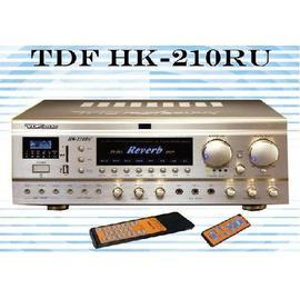 擴大機 KTV擴大機 TDF HK-210RU綜合歌唱擴大機DSP Reverb音效*多媒體音樂撥放 輸出功率210瓦+210瓦/8Ω 卡拉OK擴大機 擴大機品牌☆另可搭配其他型號伴唱機音響組