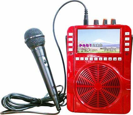 【順風九九行動卡拉OK機 MK-100】MAX 30W大功率 可播放USB/microSD 可錄音 內建4.5吋螢幕 順風99迷你卡拉OK機 MK100