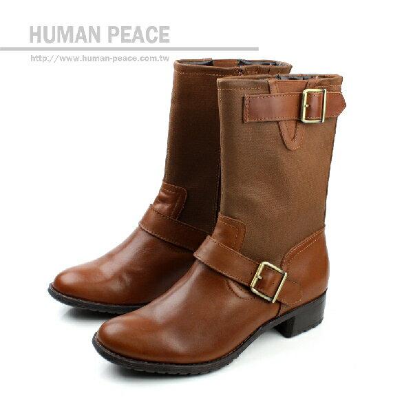 Hush Puppies 天然皮革鞋面 防泼水鞋面 舒适 拉鍊 好穿脱 靴子 户外休闲鞋 咖啡 女款 no889