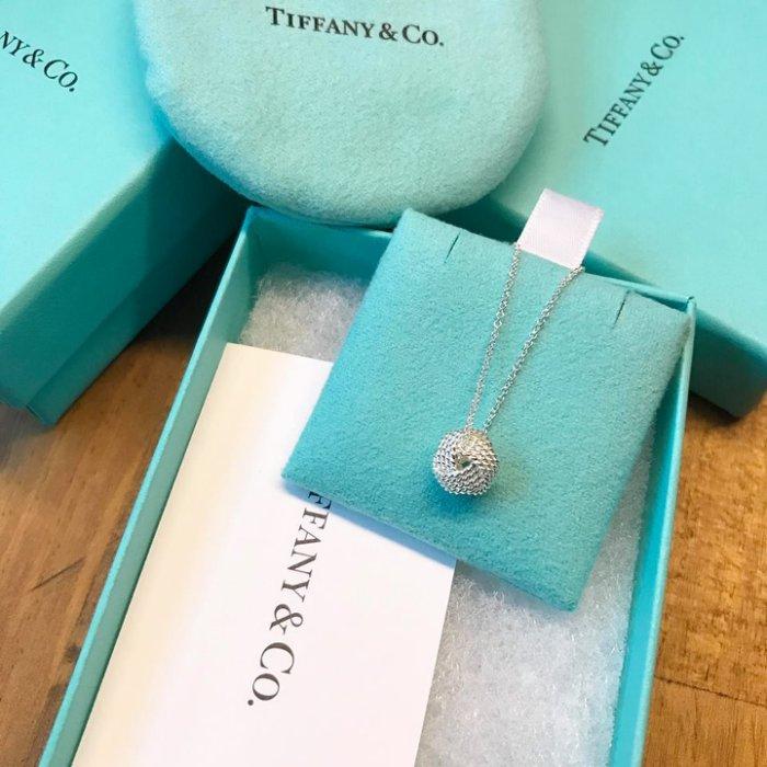 美國百分百【全新真品】Tiffany & Co. 項鍊 純銀 吊飾 專櫃 配件 情人節 銀絲球 結球 原廠包裝 C666