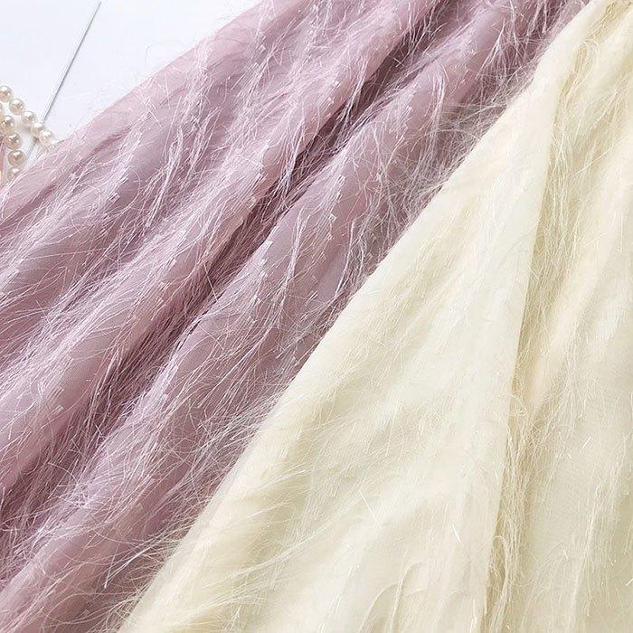 長裙 素色 流蘇裙 雪紡 羽毛 A字裙 鬆緊腰 長裙【HA409】 BOBI  02 / 14 7