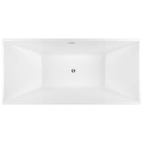 "67"" White Grey Acrylic Bathtub Freestanding Bathroom Shower Spa Body Contemporary Rectangular Bath T 1"